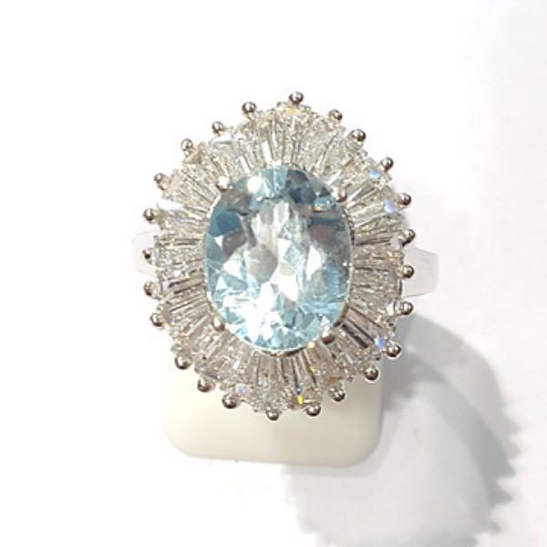 [블루케이] 블루토파즈 원석 반지 n191202-6