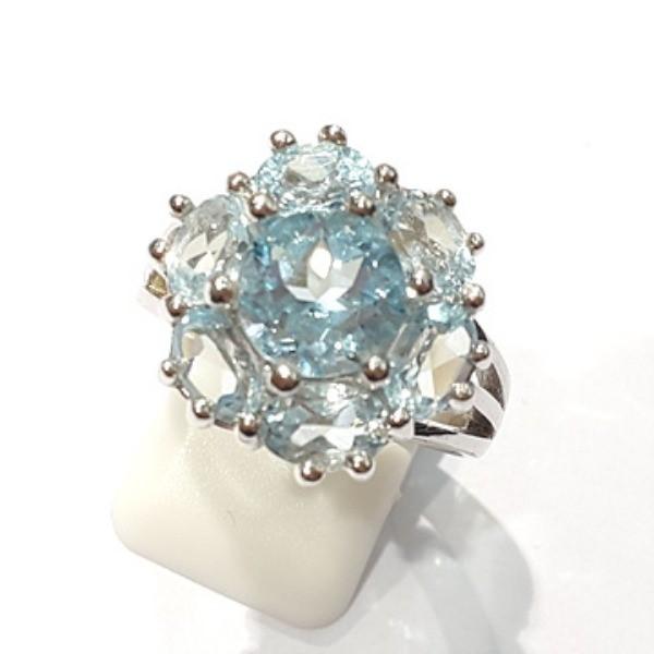 [블루케이] 블루토파즈 원석 반지 n191202-7
