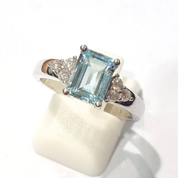 [블루케이] 블루토파즈 원석 반지 n191202-8