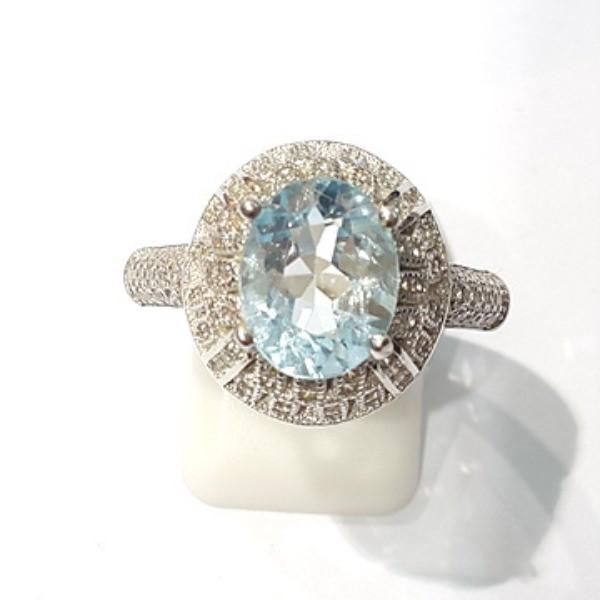 [블루케이] 블루토파즈 원석 반지 n191202-10