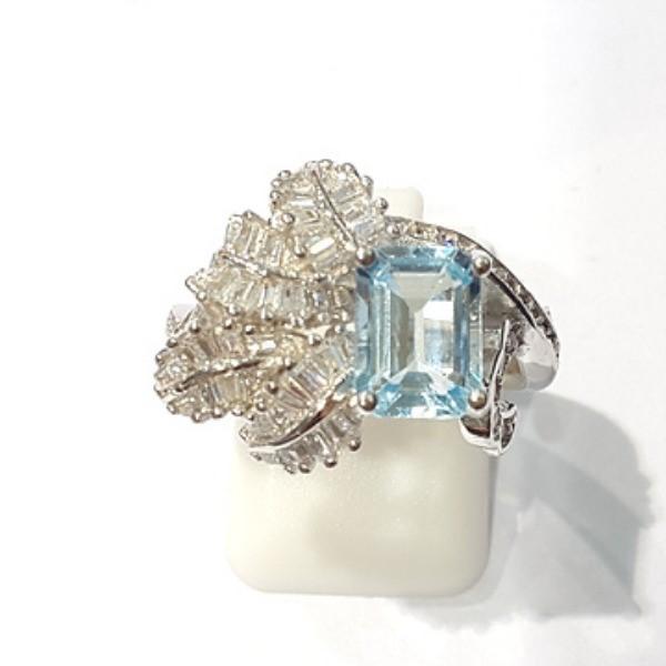[블루케이] 블루토파즈 원석 반지 n191202-11