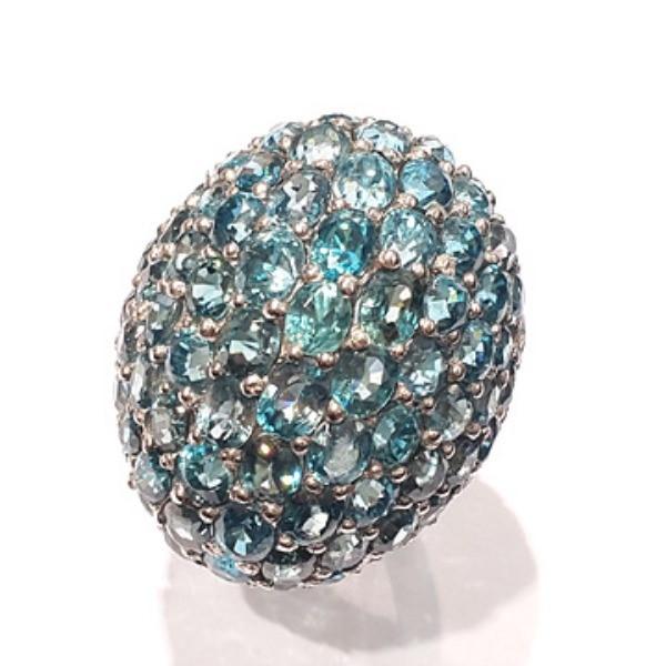 [블루케이] 블루토파즈 원석 반지 n191202-13