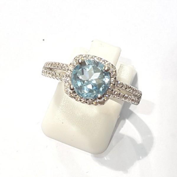 [블루케이] 블루토파즈 원석 반지 n191202-14