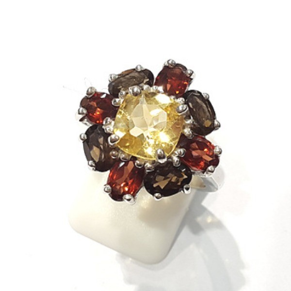 [블루케이] 시트린 가넷 원석 반지 n191202-15