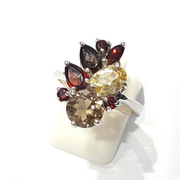 [블루케이] 시트린 가넷 원석 반지 n191202-16
