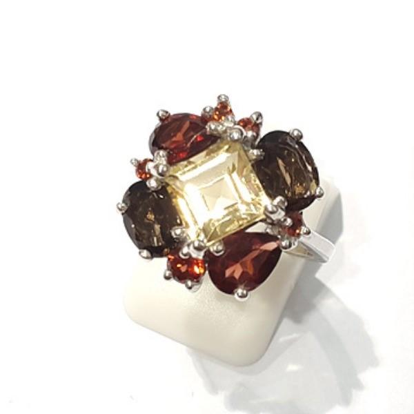 [블루케이] 시트린 가넷 원석 반지 n191202-17