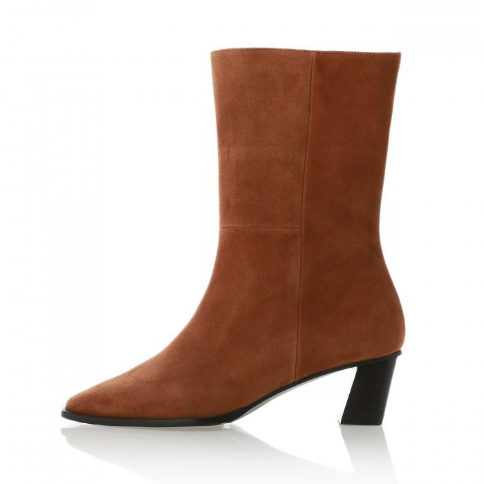 [메이엘듀]  Suede Half Boots MD19FW1050 Camel