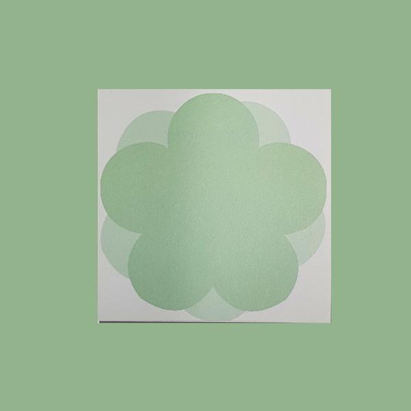 심플 초록 오얏꽃 떡메모지 메모지 시리즈 디자인 일러스트 문구