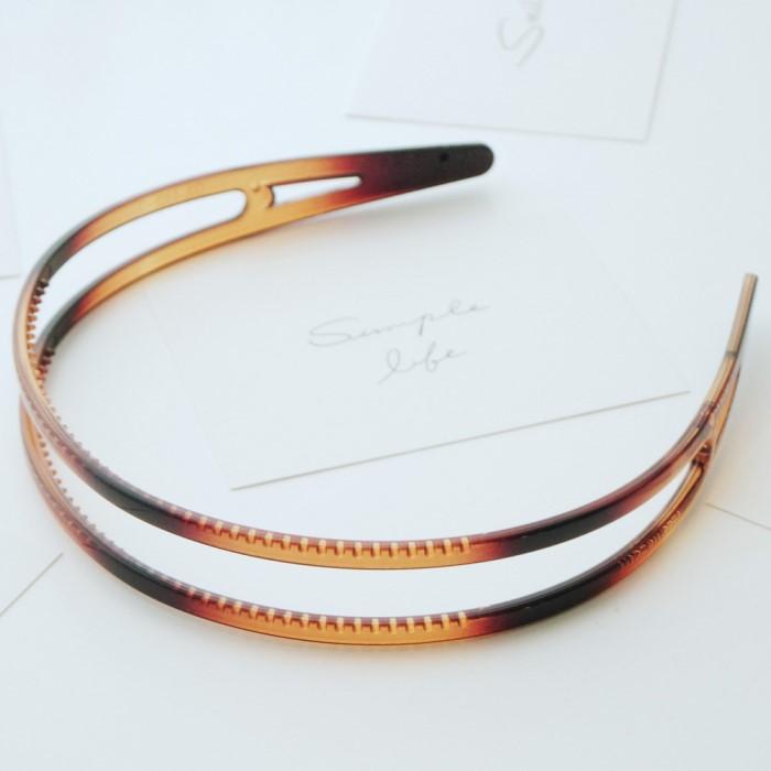 [리본크림] 셀룰로즈 두줄 머리띠 / 헤어밴드 3color