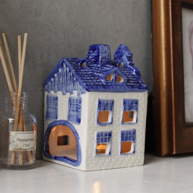 [홈마인드] 델프트 블루 하우스 캔들홀더