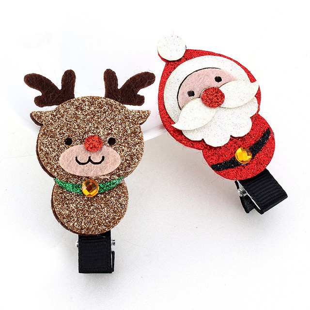 [아랑로랑] 크리스마스클리터 집게핀 헤어핀