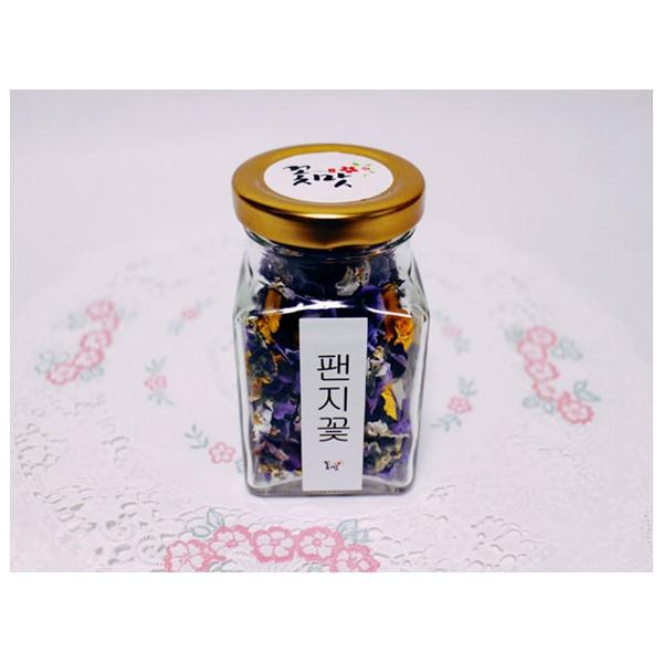 [꽃맛] 꽃맛꽃차 팬지 비올라 삼색제비 무농약 맛있는 식용 수제차선물 자연재배 꽃모종