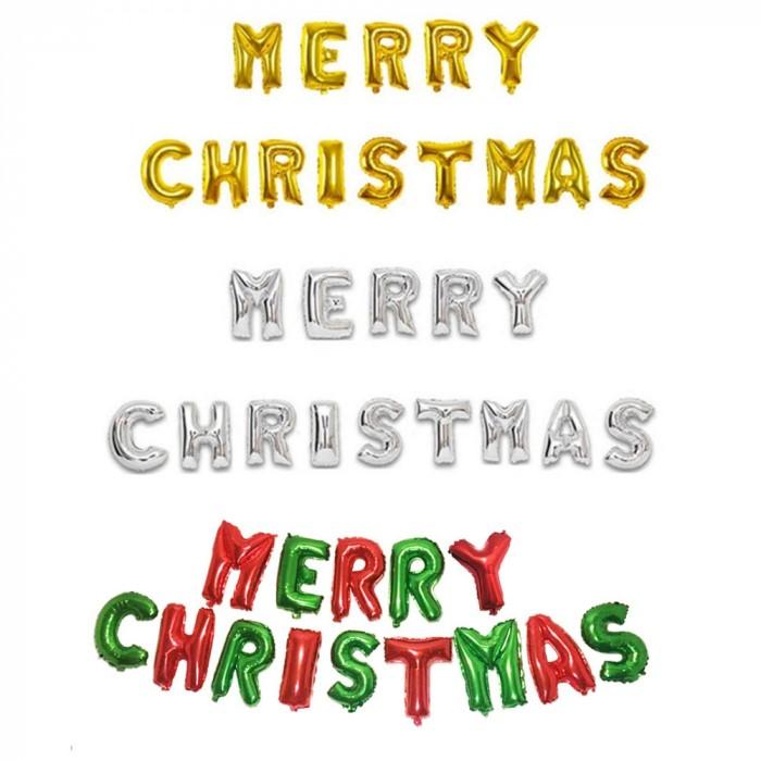 [리은상점] 메리 크리스마스 이니셜 풍선 데코