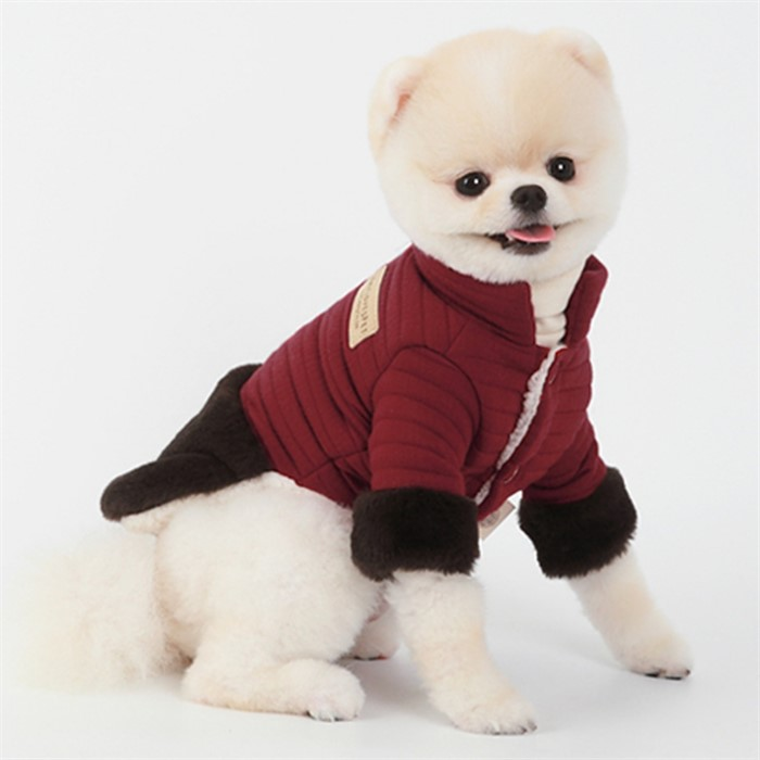 [댕댕이의 플렉스] 강아지패딩 중형견 반려견 강아지 포메 비숑 패딩 패딩조끼 겨울옷 패딩코트 와인