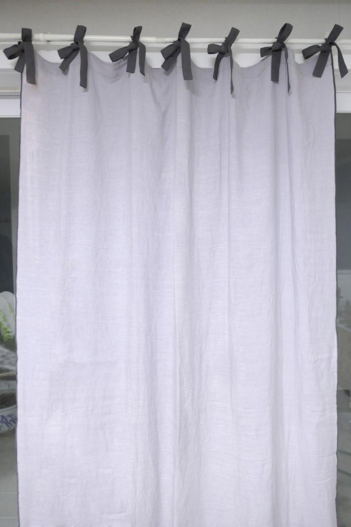 [꼬떼따블] 프렌치 모던 베이직 린넨 리본 커튼(DH19C-3)(4color)