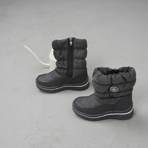 [한나] 셔링 스노우 안감털 초등패딩부츠 주니어겨울신발
