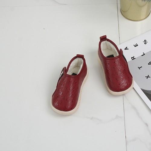 [한나] 하프스타 벨크로 안감털 남아 여아털단화 아동겨울신발