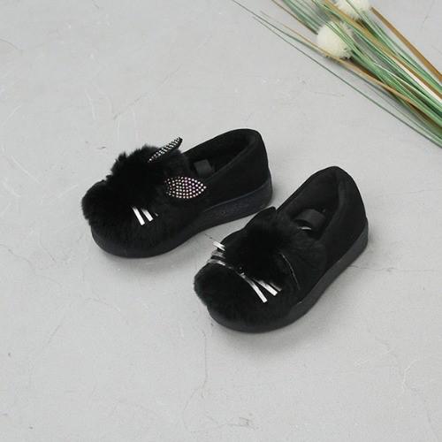 [한나] 반짝래빗 안감털 아동LED신발 여아겨울단화
