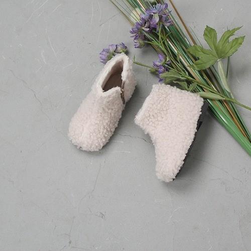[한나] 보들 둥근코 안감털 남아 여아부츠 아동방한신발