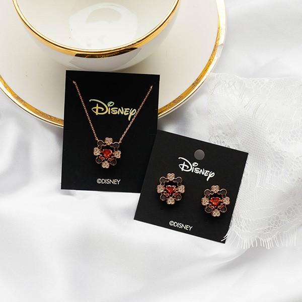 [귀걸이+목걸이] [디즈니 정품] 미키 미니 하트 세트