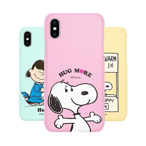 [스누피 정품] 허그 파스텔 소프트 젤리 아이폰 호환 케이스
