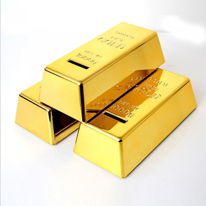 [트래블] 골드바 금괴 저금통 동전 사은품 인테리어