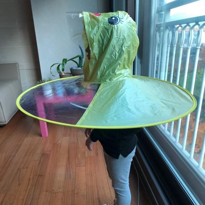 [트래블] 오리 병아리 우의 머리우산 비옷 레인코트