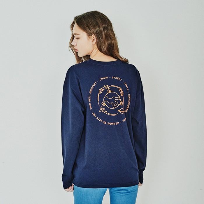 [카미노스트릿] 20SS 유니버스 긴팔 티셔츠 네이비