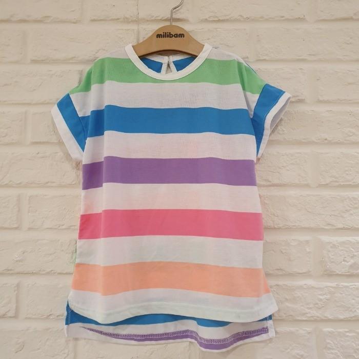 밀리밤 NC05 스트라이프  롱 티셔츠 MLRA20508