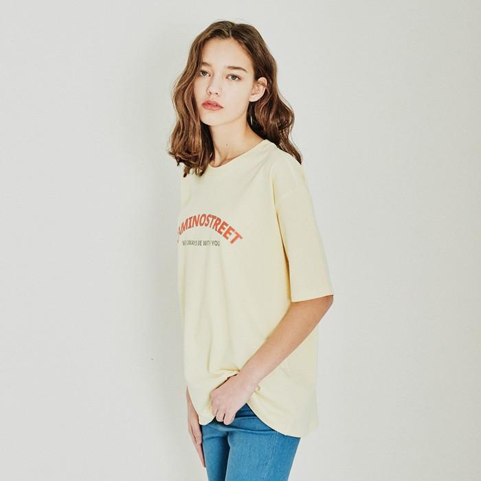 [카미노스트릿] 빅 로고 반팔 티셔츠 옐로