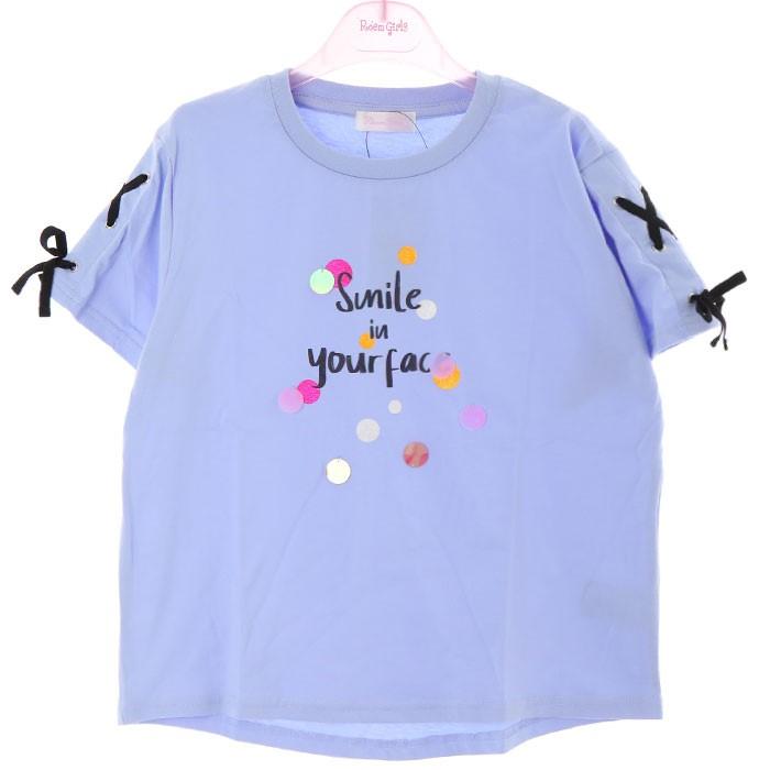 로엠걸즈 NC02 소매포인트 티셔츠 RGRA2043C