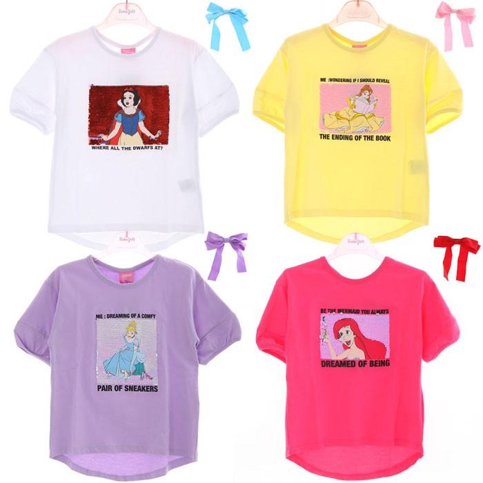 로엠걸즈 NC02 디즈니♡ 머리핀 반팔티셔츠 RGRA2055D