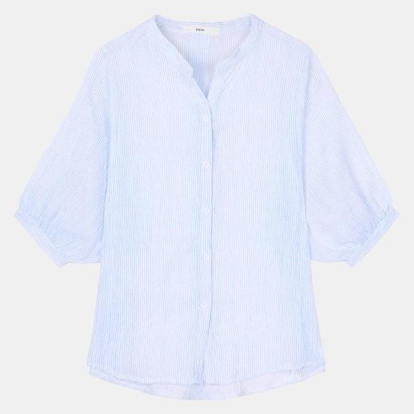 데이텀 NC06 찌글 스트라이프 셔츠 DAYW208D2