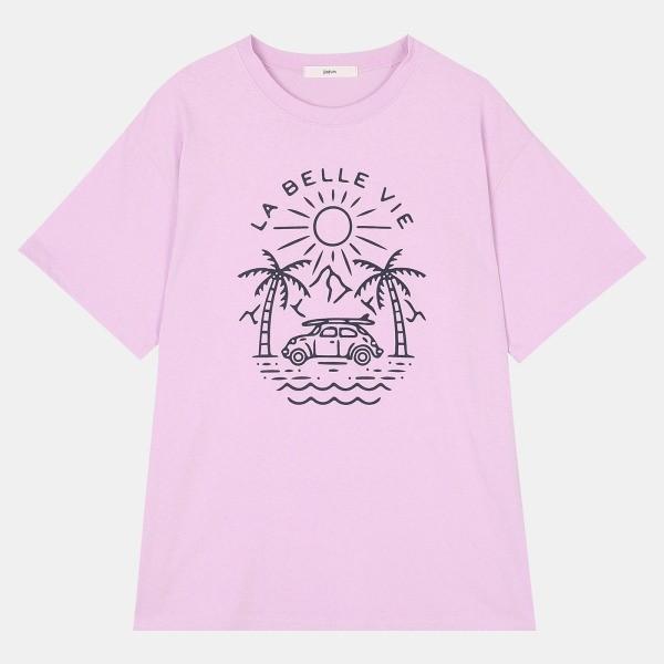 데이텀 NC08 야자수 비치 티셔츠 DARA208D2