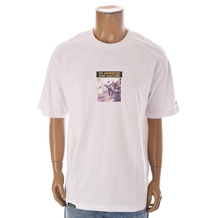 TBJ NC02 남성 프린트 티셔츠 T192TS002P 화이트