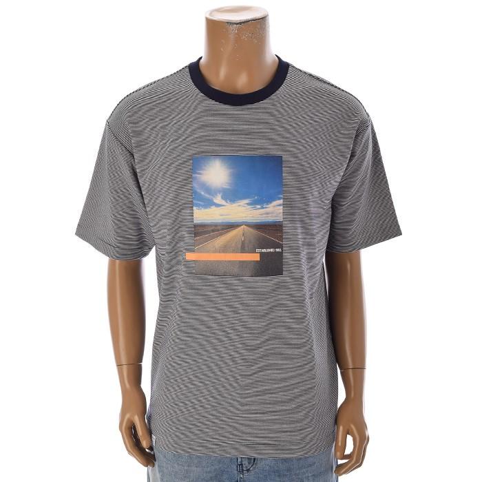TBJ NC02 남성 스트라이프 티셔츠 T192TS007P 네이비