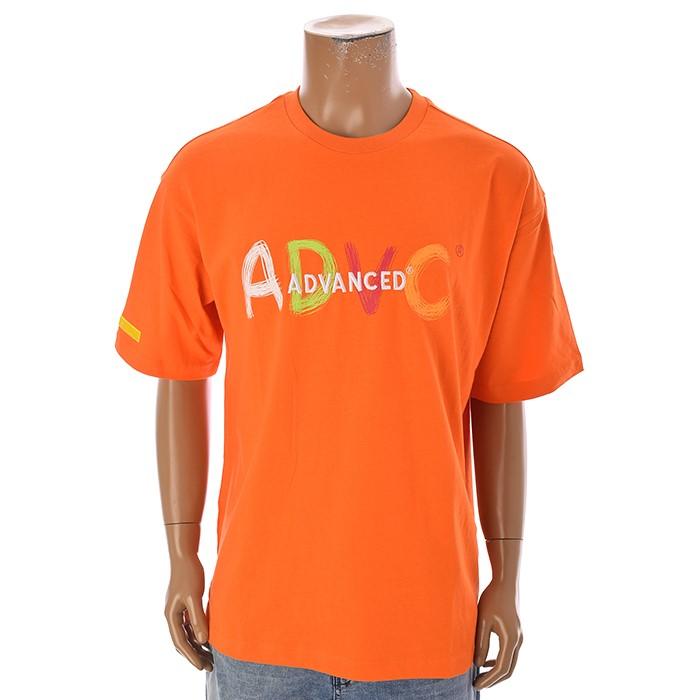 TBJ NC02 남성 레터링 티셔츠 T192TS009P 오렌지