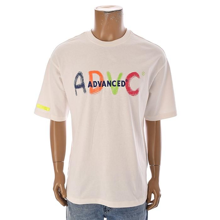 TBJ NC02 남성 레터링 티셔츠 T192TS009P 화이트