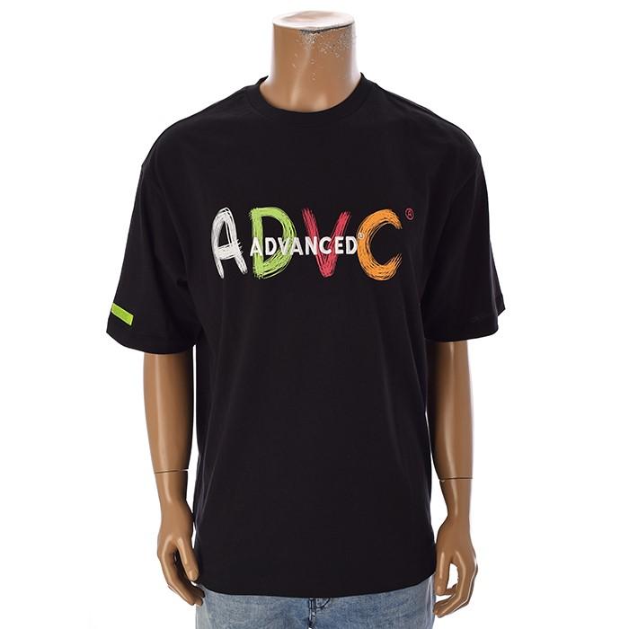 TBJ NC02 남성 레터링 티셔츠 T192TS009P 블랙