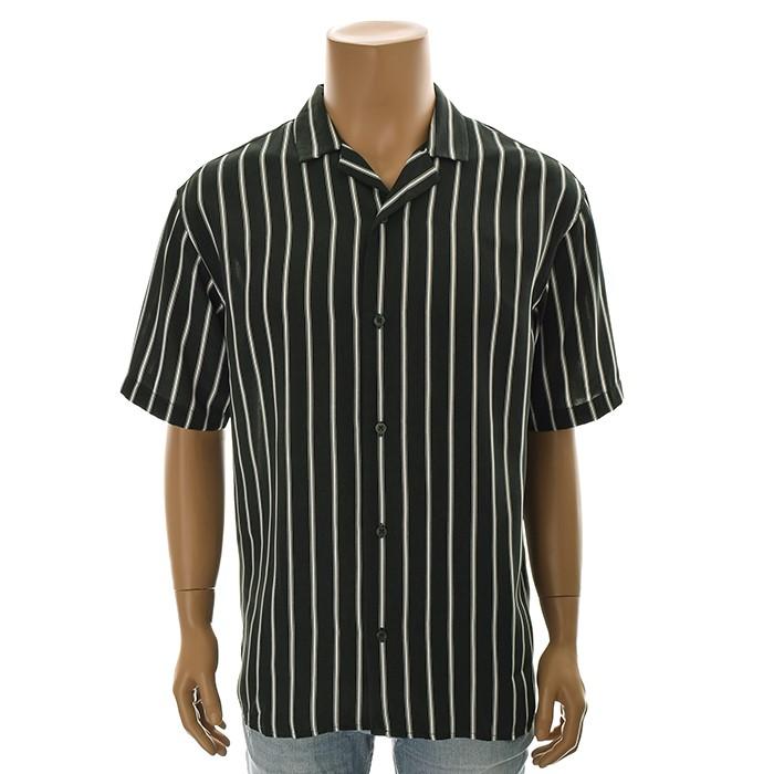 TBJ NC02 루즈핏 스트라이프 셔츠 T192SH331P 그린