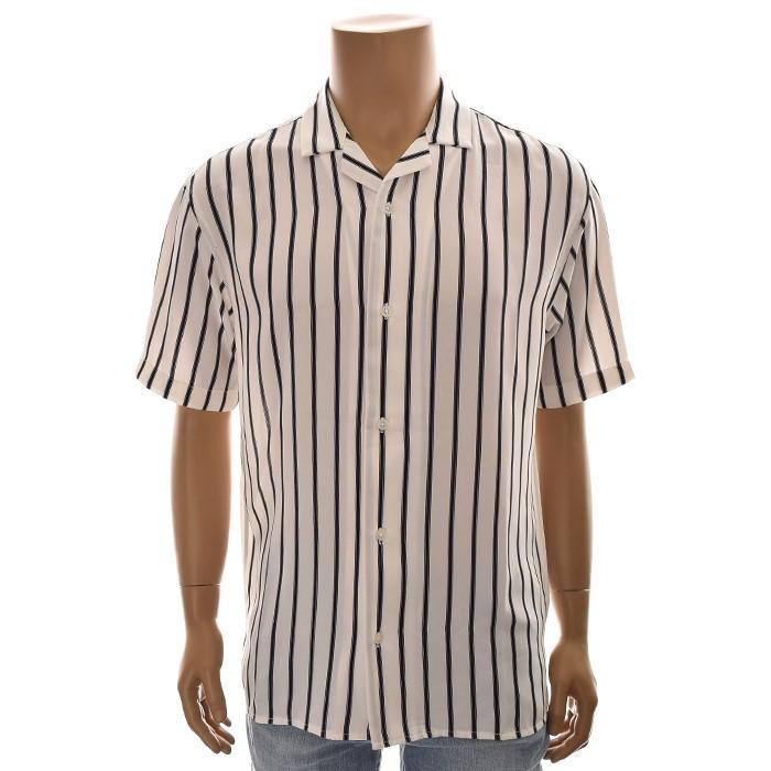 TBJ NC02 루즈핏 스트라이프 셔츠 T192SH331P 화이트