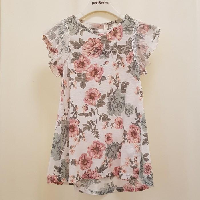 페리미츠 NC08 꽃나염 롱 티셔츠 P1925T568