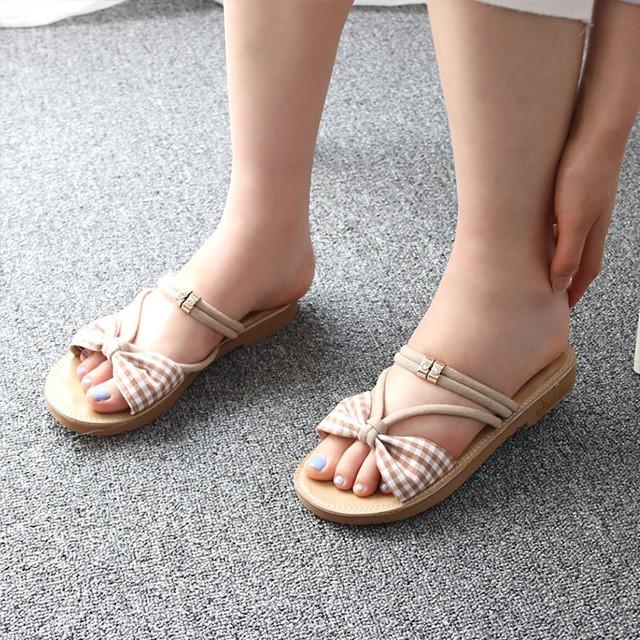 [디자이어로즈] 여성 여름 스트링 리본샌들 슬리퍼 DS1243